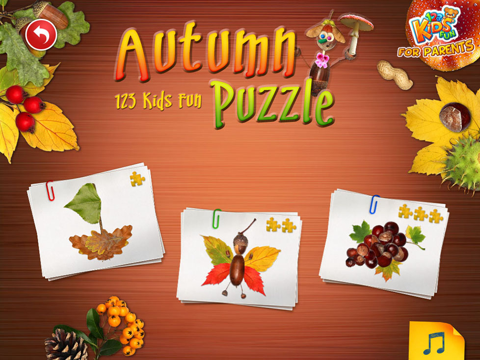 123 Kids Fun Autumn Puzzle