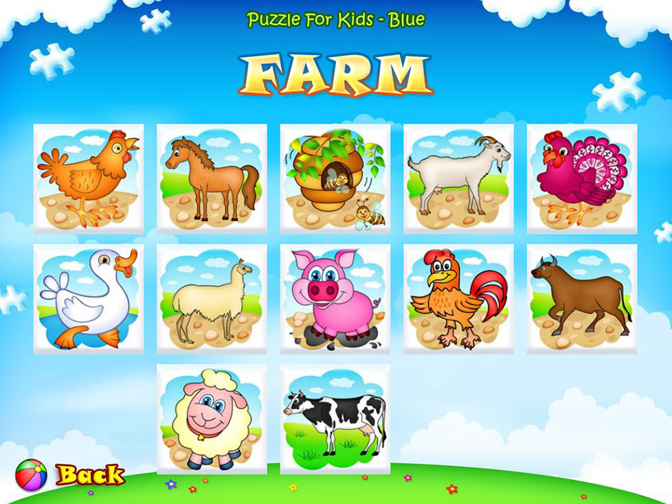 123 Kids Fun Puzzle Blue