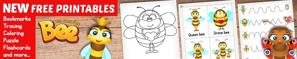 Bee Game - FREE Worksheets and Printables for Kids