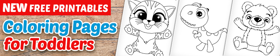 FREE PRINTABLES - Coloring Pages for Toddlers