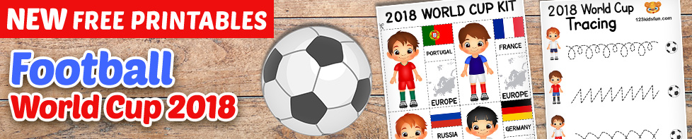 Football World Cup 2018 - Free Worksheets