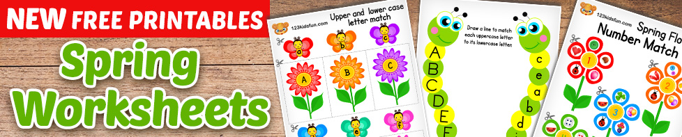 FREE PRINTABLES - Spring Worksheets
