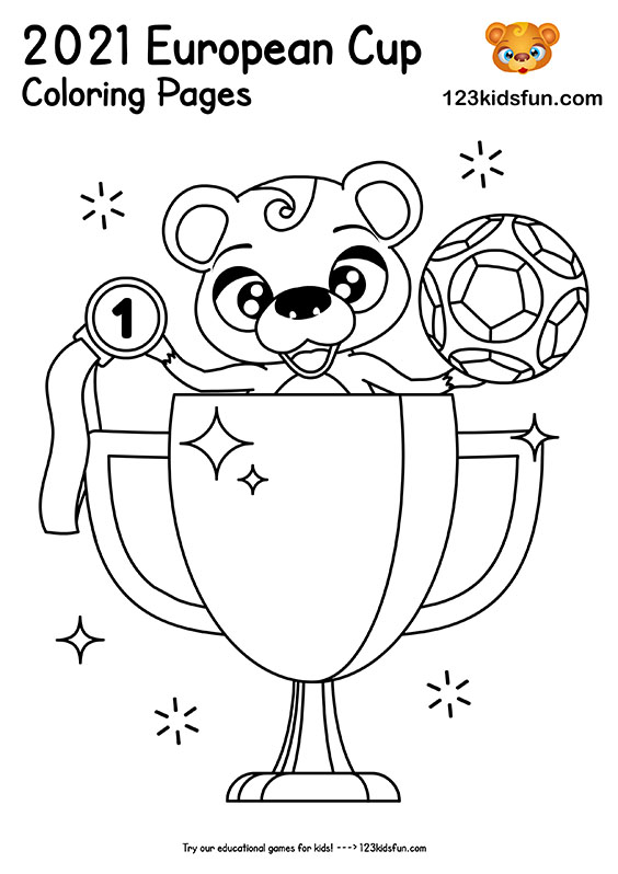 European Cup 2021 - Football Coloring Pages for Kids