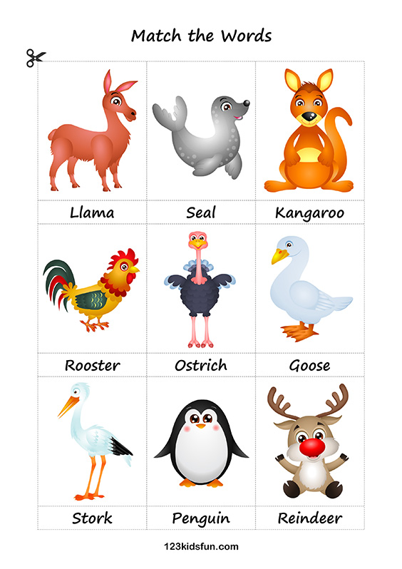 Free Printable Flashcards. Education for Kids. Animals. #flashcards #animals