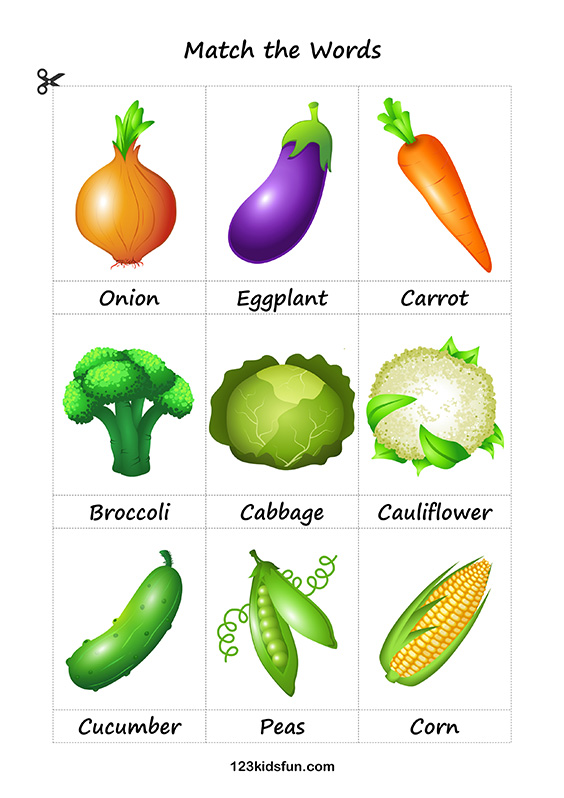 Free Printable Flashcards. Education for Kids. Vegetables. #flashcards #vegetables