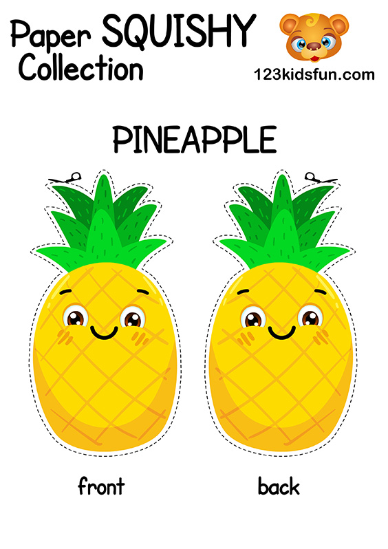 Free Paper Squishy Collection - Pineapple.