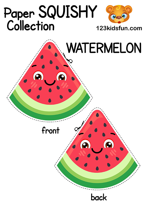Free Paper Squishy Collection - Watermelon.