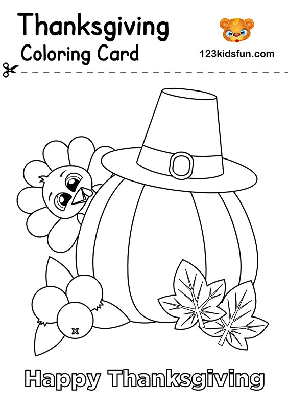 photograph regarding Printable Thanksgiving Cards referred to as Totally free Thanksgiving Printables 123 Small children Enjoyment Programs