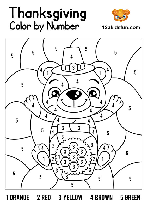 Thanksgiving Coloring Pages Color by Number Concept Best Free ... | 798x564