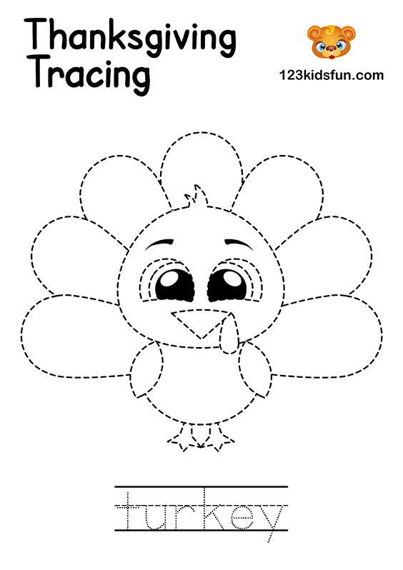 Tracing turkey – Homeschooling