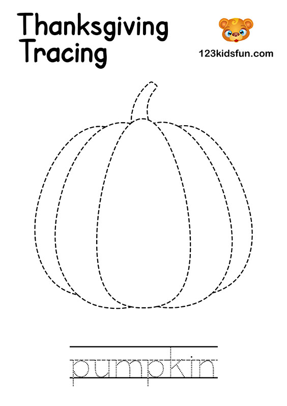 Tracing pumpkin– Homeschooling