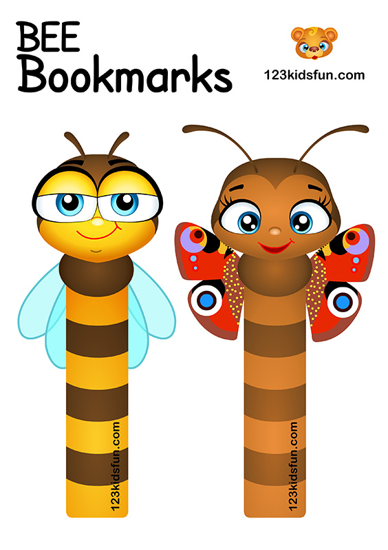 Bee Game - Free Bookmarks Printables for Kids