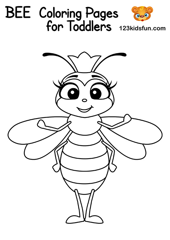 Free Queen Bee Coloring Pages for Kids
