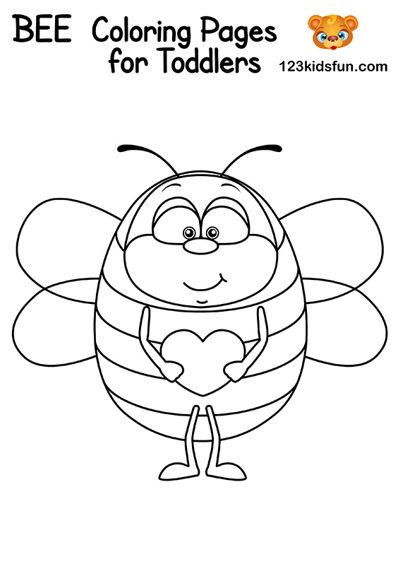 Free Drone Bee Coloring Pages for Kids