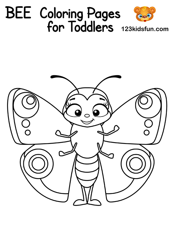 Free Butterfly Coloring Pages for Kids