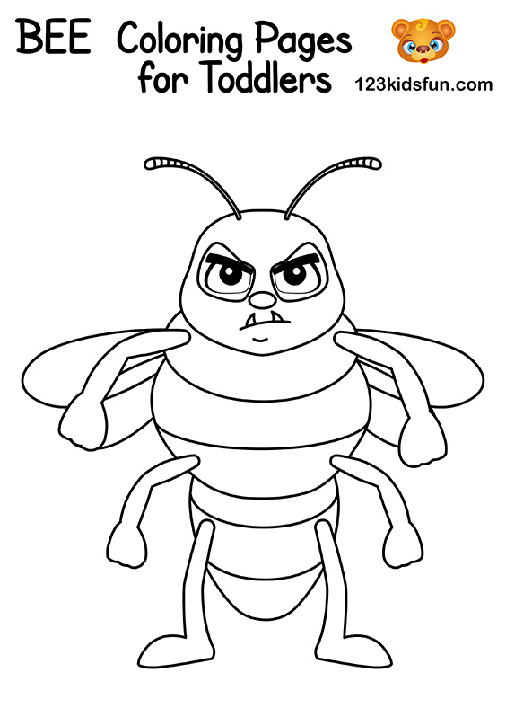 Free Hornet Coloring Pages for Kids