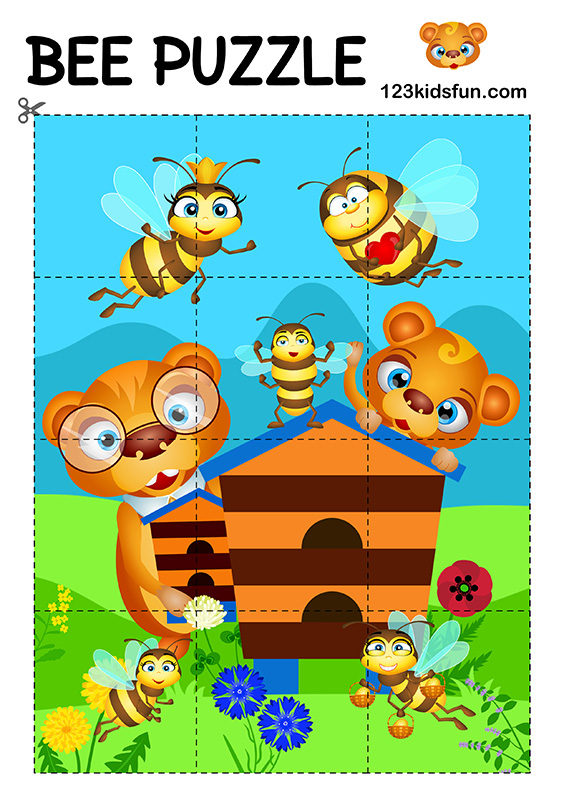 Bee Game - Free Animals Puzzle Game for Kids