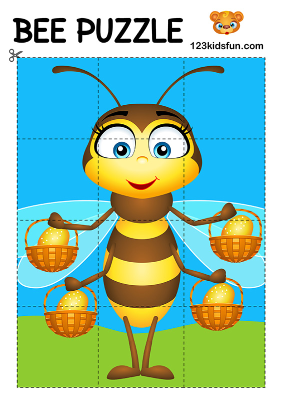 Bee Game - Free Puzzle Game for Kids