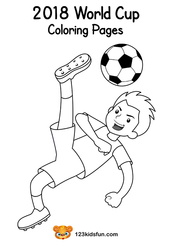 e08ddad2fab Coloring Pages - Football World Cup 2018. Free Worksheets and Activities for  Kids.