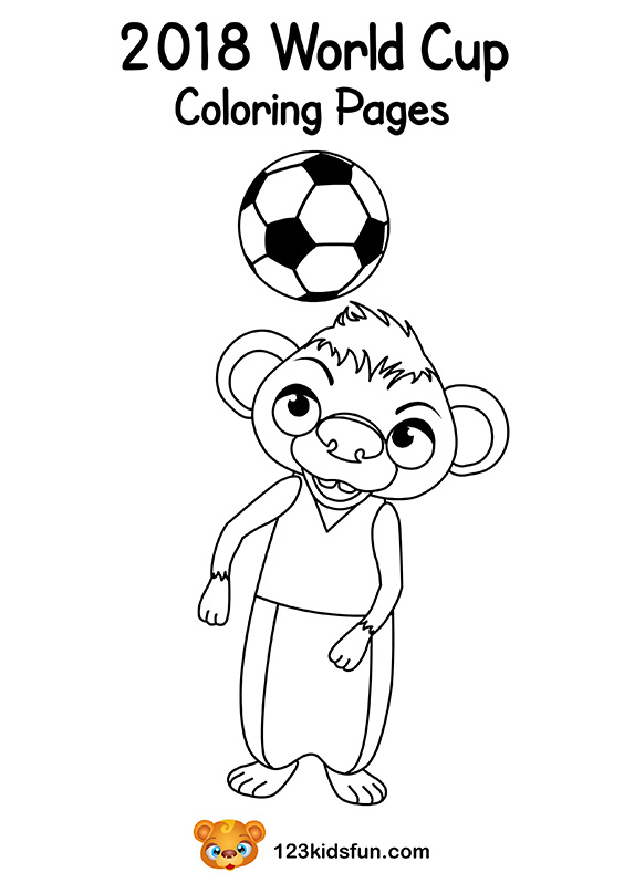 Coloring Pages - Football World Cup 2018. Free Worksheets and Activities for Kids.