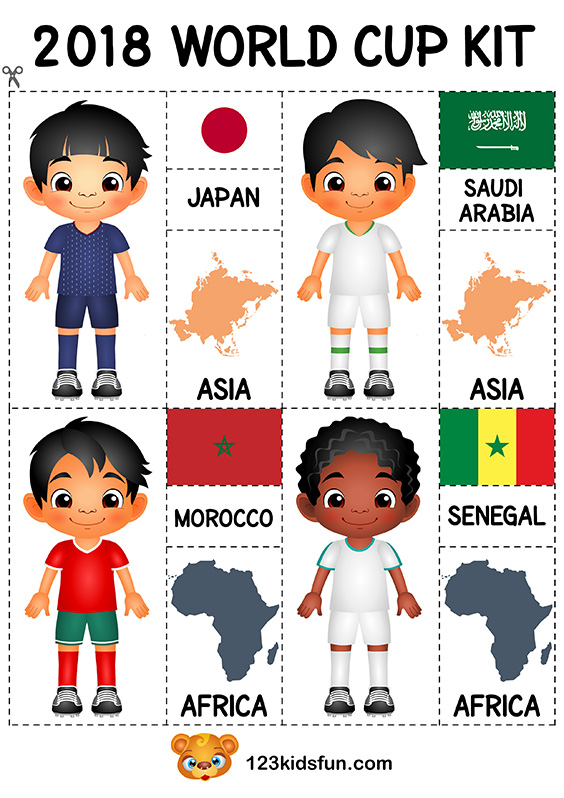 5f9135ebc63 Football 2018 World Cup Kit. Free Worksheets and Activities for Kids.