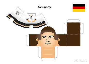 Football 2018 World Cup Kit. FREE Footbal Players Paper Craft. Mini paper toy for kids. #football #WorldCup