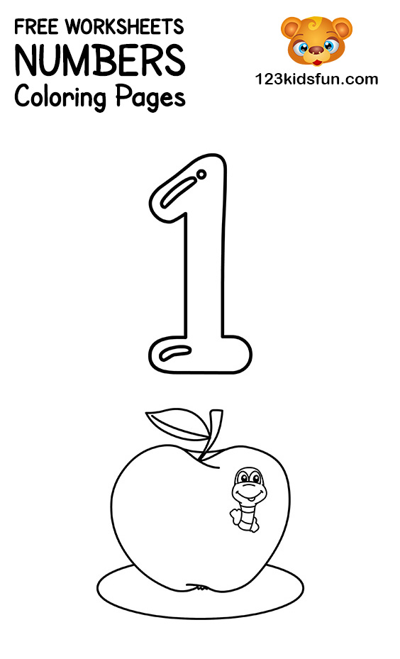 - FREE Printable Number Coloring Pages 1-10 For Kids. 123 Kids Fun Apps