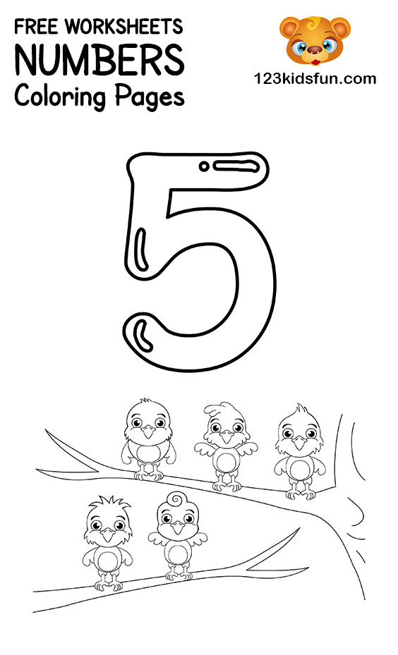 Number Coloring Pages 1-10