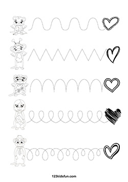 Free Valentine S Day Worksheets 123 Kids Fun Apps