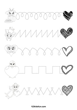 free valentine s day worksheets 123 kids fun apps. Black Bedroom Furniture Sets. Home Design Ideas