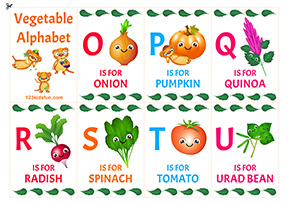 Vegetable Alphabet for Kids