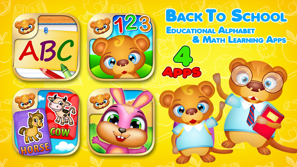 Back To School - Educational Alphabet & Math Learning Apps
