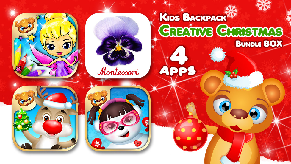 Kids Backpack - Creative Christmas Bundle BOX