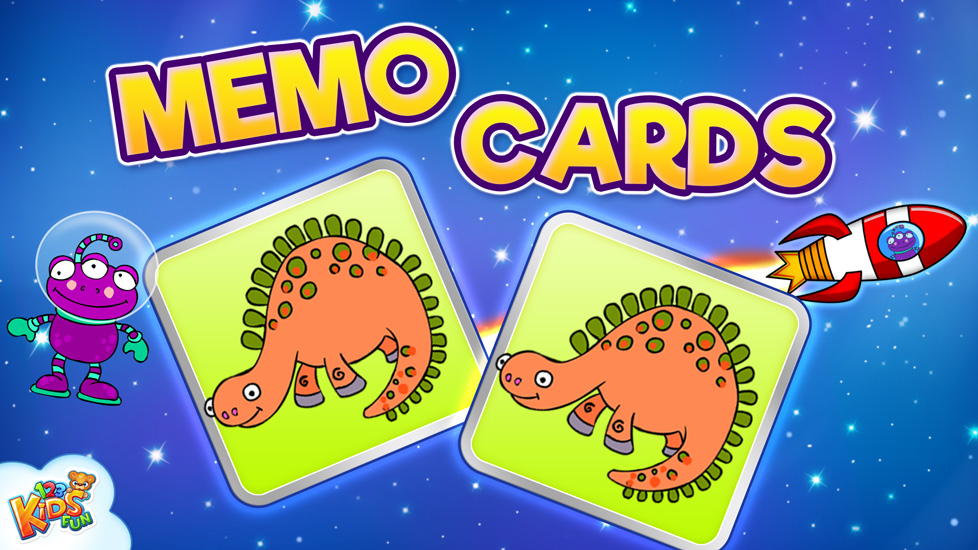 123 Kids Fun MEMO CARDS