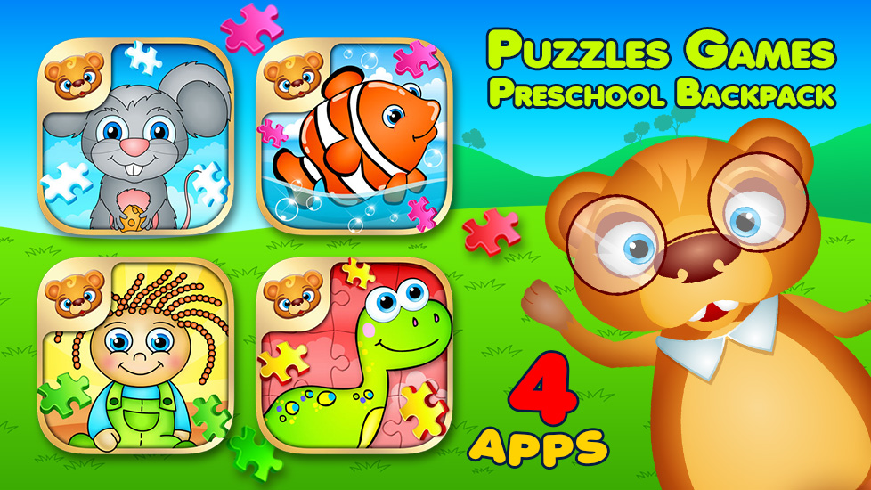 Puzzles Games Preschool Backpack