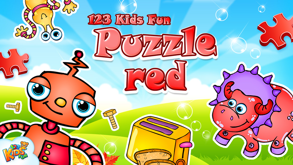 123 Kids Fun Puzzle Red