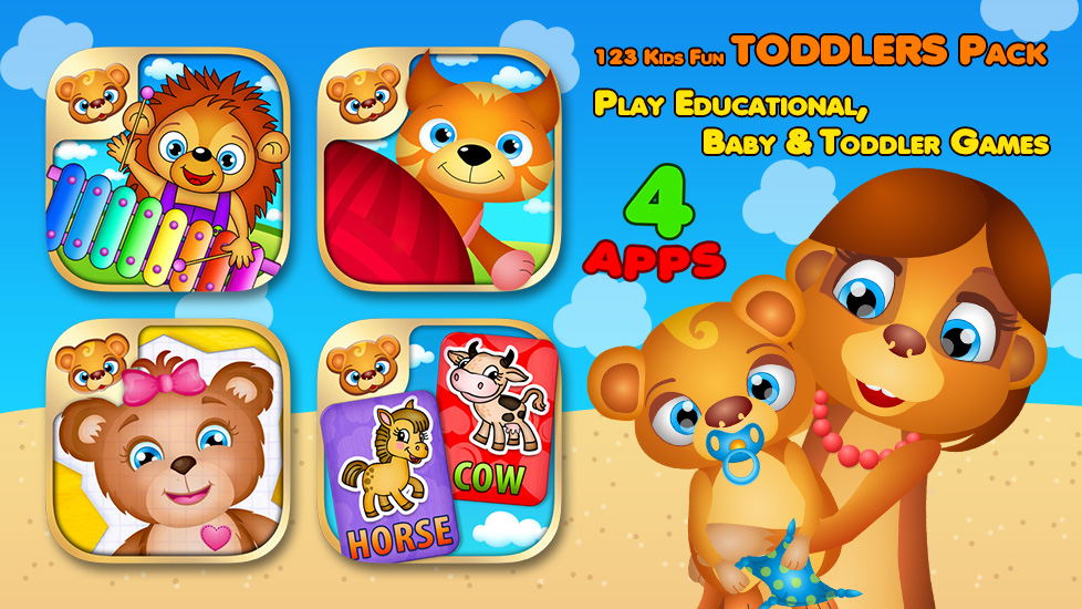 123 Kids Fun TODDLERS Pack - Play Educational, Baby & Toddler Games
