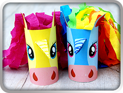 123 Kids Fun Unicorn Paper Roll Crafts for Kids