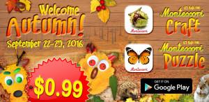 autumn montessori promotion sale