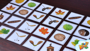 autumn preschool cards