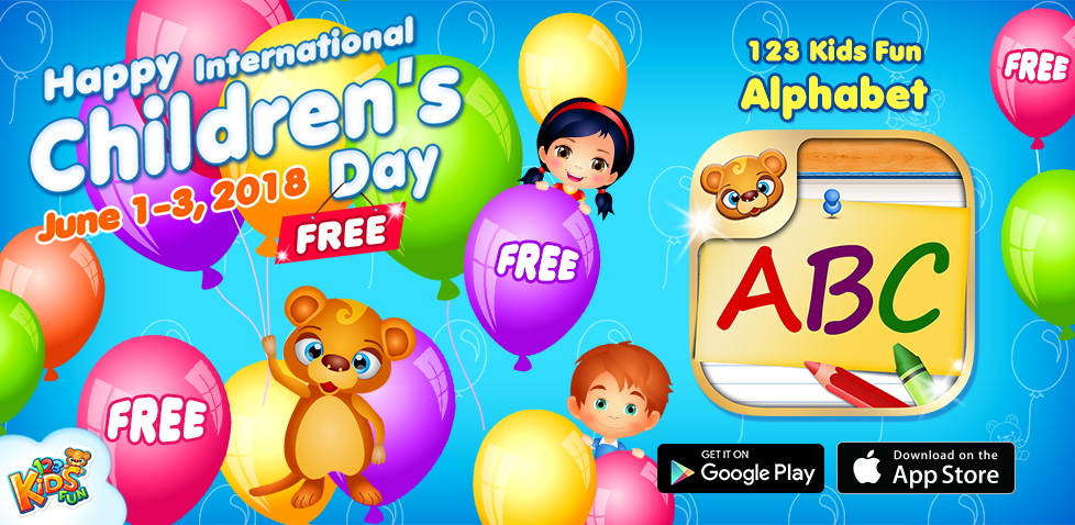 Childrens day promotion 123 kids fun