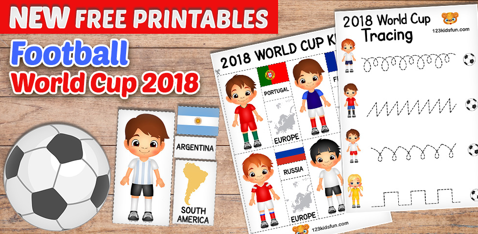 free printables for kids football world cup 2018