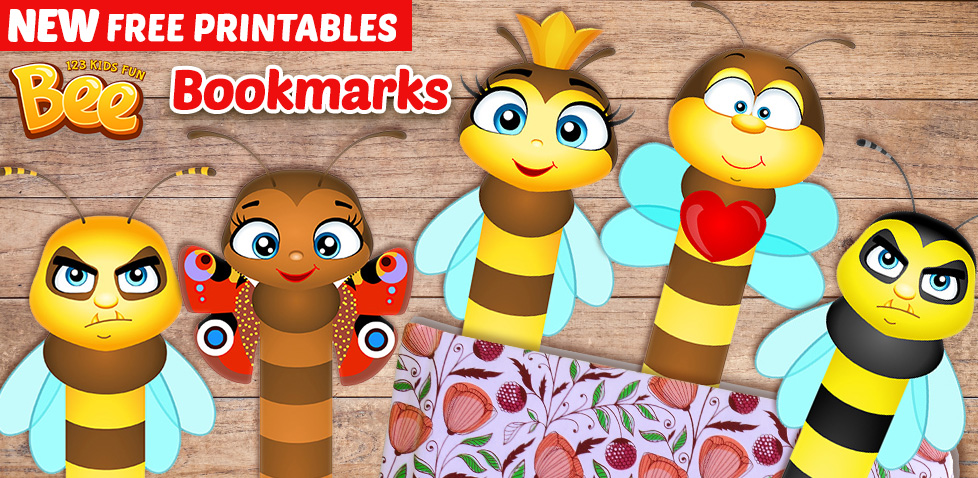 free printable bookmarks bee