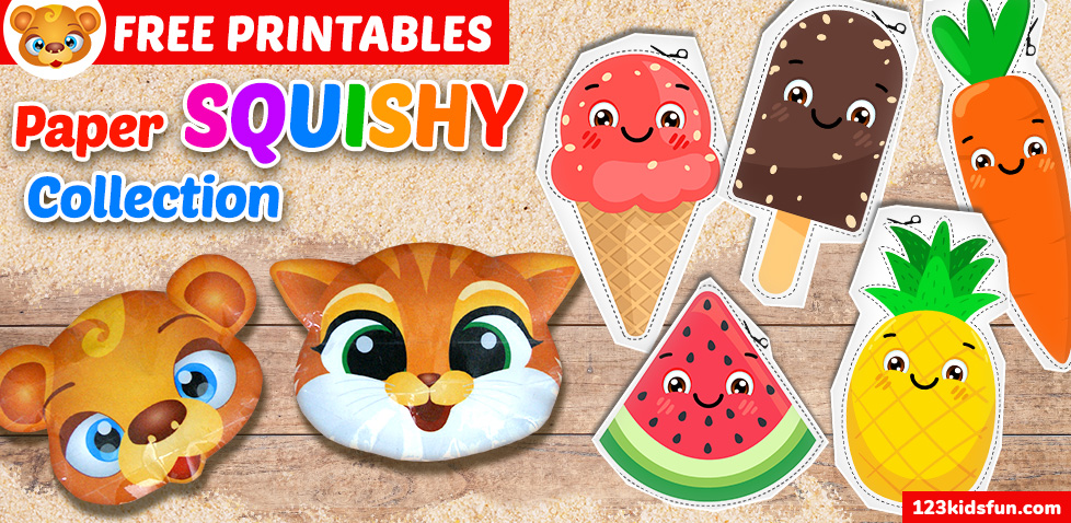 Summer FREE Printables Squishy Collection for Kids