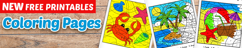 Free Color By Number for Kids Printable – Homeschooling.