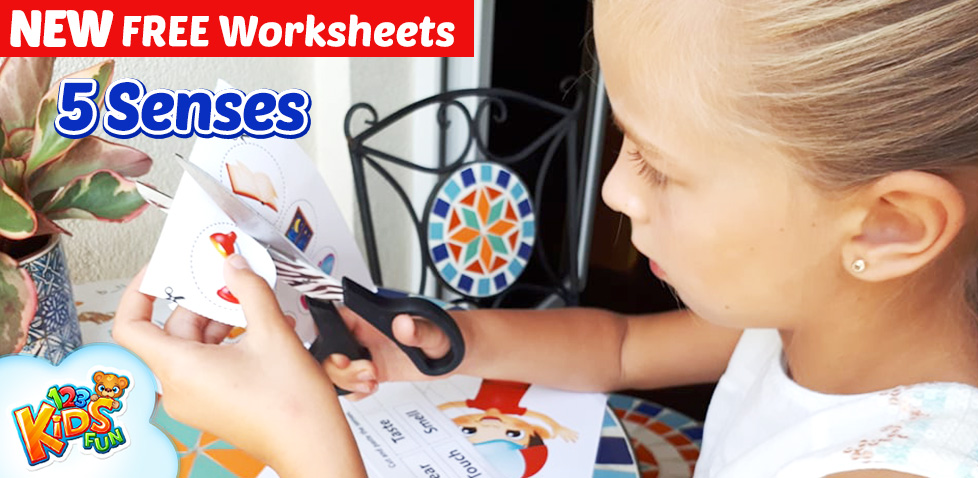 5 senses free worksheets