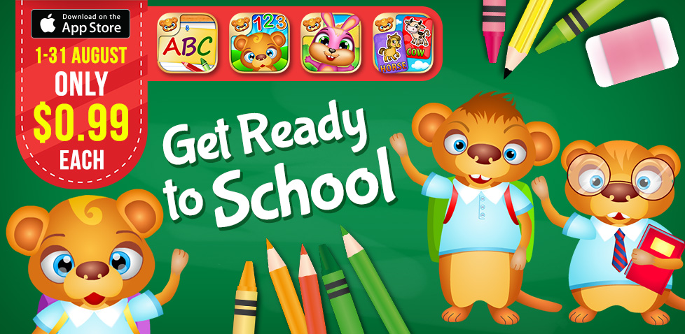 get ready to school with 123 kids fun apps