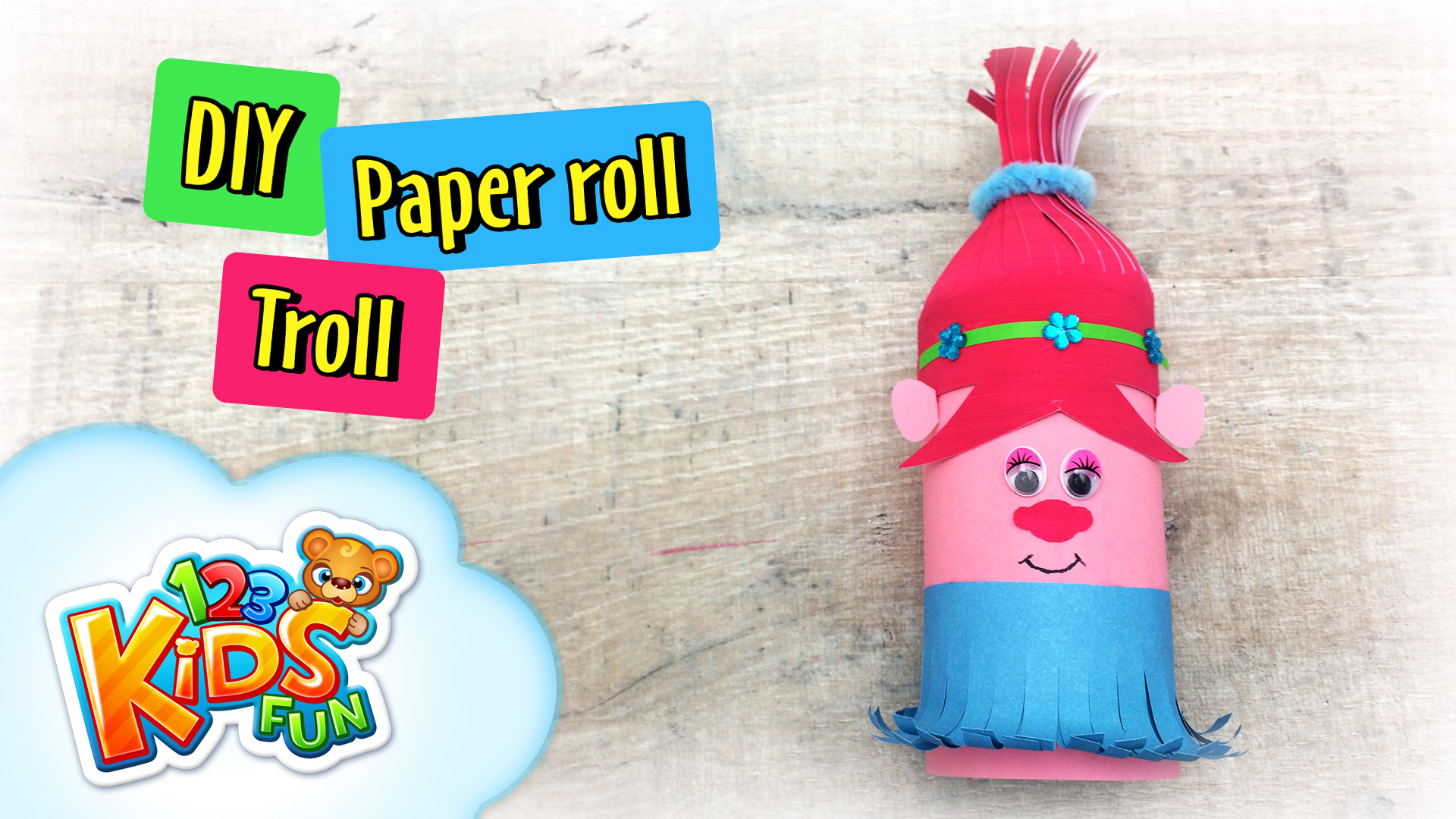 paper roll troll poppy