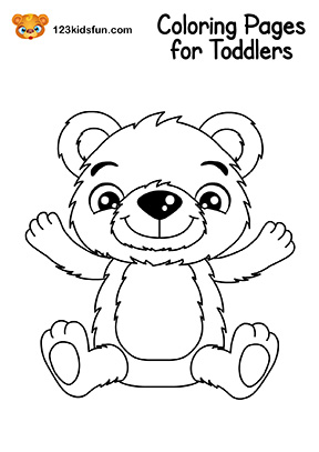 Top 18 Free Printable Teddy Bear Coloring Pages Online | 407x288