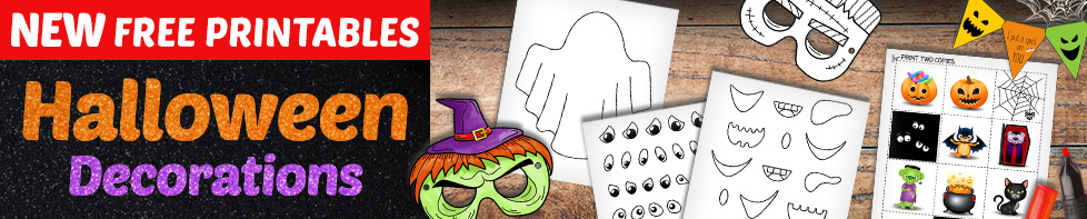 halloween printable pages halloween decorations for kids